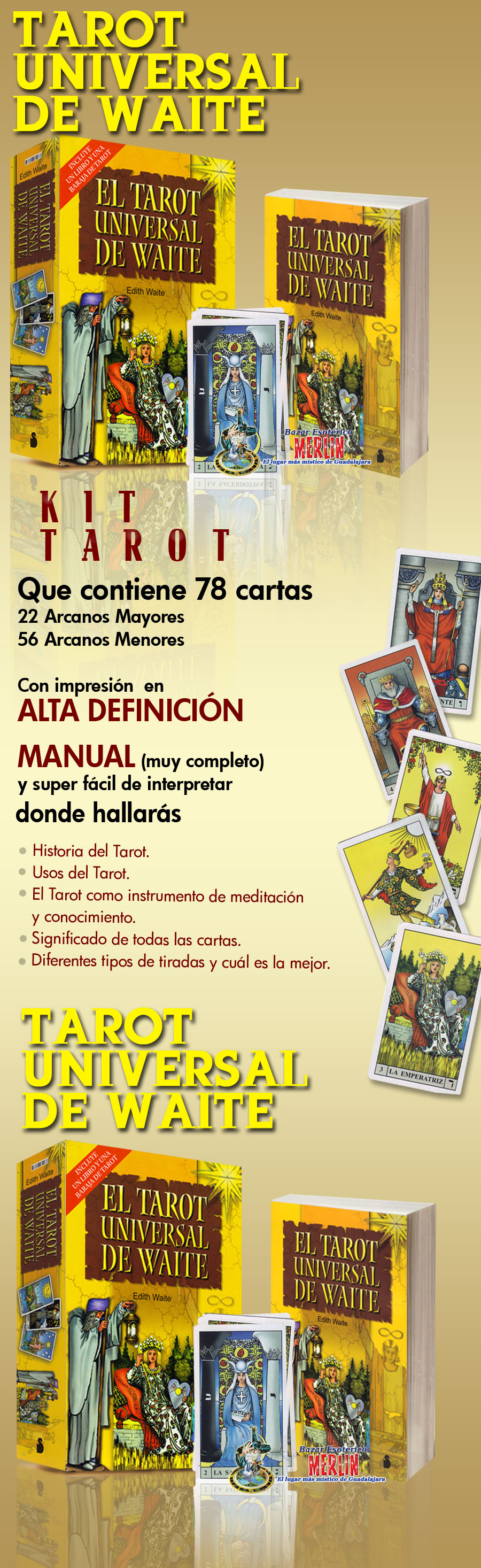 Tarot Universal De Waite Diseno 01